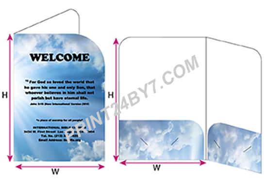 6 x 9 Two Panel Folders